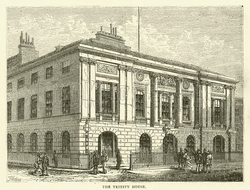 The Trinity House. Illustration for Old and New London with numerous engravings from the most authentic sources by Walter Thornbury (Cassell, c 1890).