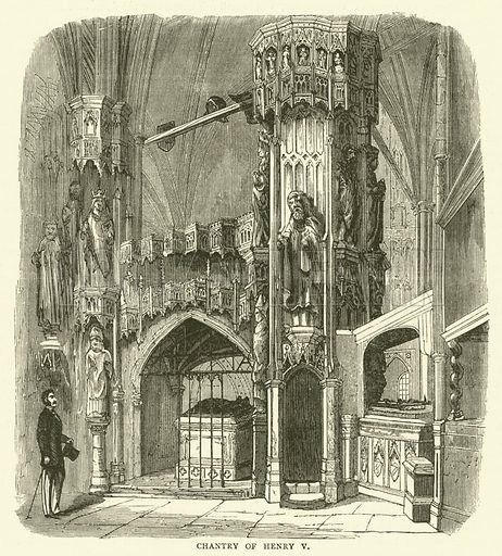 Chantry of Henry V. Illustration for Old and New London with numerous engravings from the most authentic sources by Walter Thornbury (Cassell, c 1890).