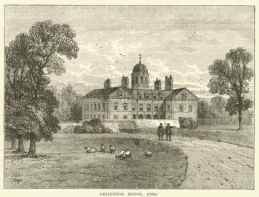 Arlington House, 1700. Illustration for Old and New London with numerous engravings from the most authentic sources by Walter Thornbury (Cassell, c 1890).