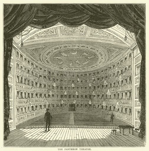 The Pantheon Theatre. Illustration for Old and New London with numerous engravings from the most authentic sources by Walter Thornbury (Cassell, c 1890).