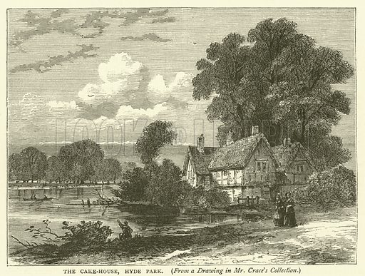 The Cake-House, Hyde Park, from a drawing in Mr Crace's collection. Illustration for Old and New London with numerous engravings from the most authentic sources by Walter Thornbury (Cassell, c 1890).