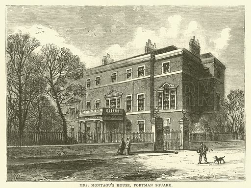Mrs Montagu's House, Portman Square. Illustration for Old and New London with numerous engravings from the most authentic sources by Walter Thornbury (Cassell, c 1890).