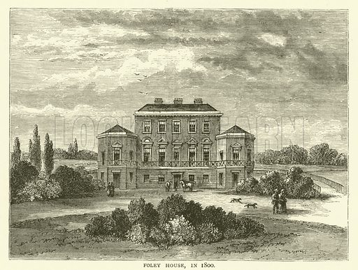 Foley House, in 1800. Illustration for Old and New London with numerous engravings from the most authentic sources by Walter Thornbury (Cassell, c 1890).