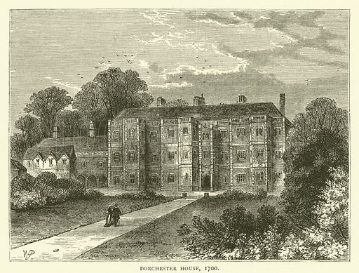 Dorchester House, 1700. Illustration for Old and New London with numerous engravings from the most authentic sources by Walter Thornbury (Cassell, c 1890).