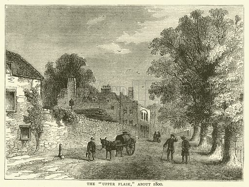 """The """"Upper Flask,"""" about 1800. Illustration for Old and New London with numerous engravings from the most authentic sources by Walter Thornbury (Cassell, c 1890)."""