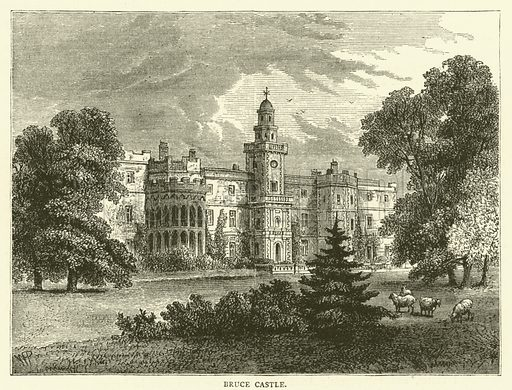 Bruce Castle. Illustration for Old and New London with numerous engravings from the most authentic sources by Walter Thornbury (Cassell, c 1890).