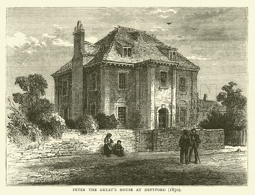 Peter the Great's House at Deptford, 1850. Illustration for Old and New London with numerous engravings from the most authentic sources by Walter Thornbury (Cassell, c 1890).