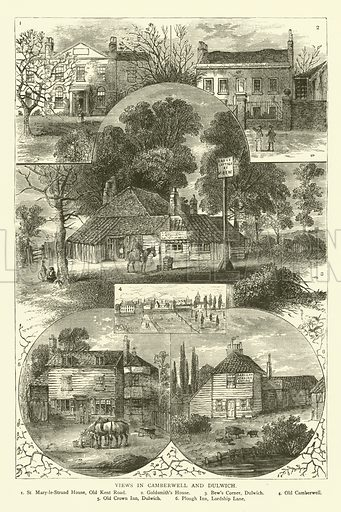 Views in Camberwell and Dulwich. Illustration for Old and New London with numerous engravings from the most authentic sources by Walter Thornbury (Cassell, c 1890).
