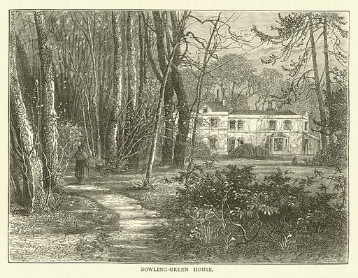 Bowling-Green House. Illustration for Old and New London with numerous engravings from the most authentic sources by Walter Thornbury (Cassell, c 1890).