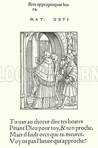 The Canon. From Holbein's Totentanz (Danse Macabre). Illustration for Kulturgeschichtliches Bilderbuch aus drei Jahrhunderten by Georg Hirth (Leipzig and Munchen, 1881-90).