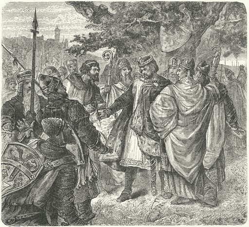 King John agreeing to the Magna Carta, Runnymede, 1215
