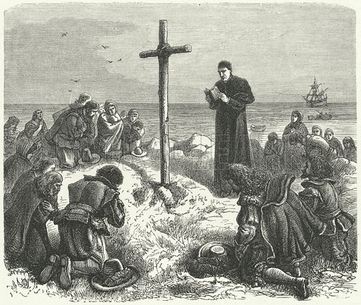 Landing of the Pilgrim Fathers in New England, 1620