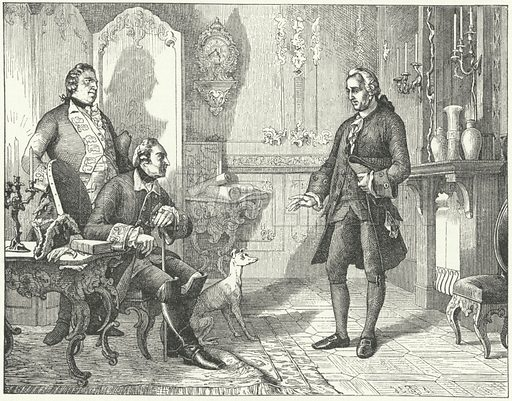Frederick the Great of Prussia with the poet Christian Furchtegott