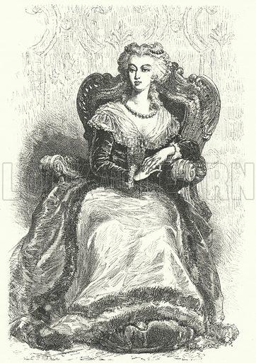 Marie Antoinette (1755-1793), Queen Consort of Louis XVI of France. Illustration for Weltgeschichte Fur Das Volk by Otto von Corvin and Wilhelm Held (Verlag und Druck von Otto Spamer, 1880).