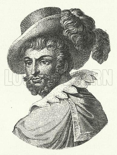 Luis de Camoes (c1524-1580), Portugese poet. Illustration for Geschichte der Weltlitteratur by Julius Hart (Neumann, c 1894).