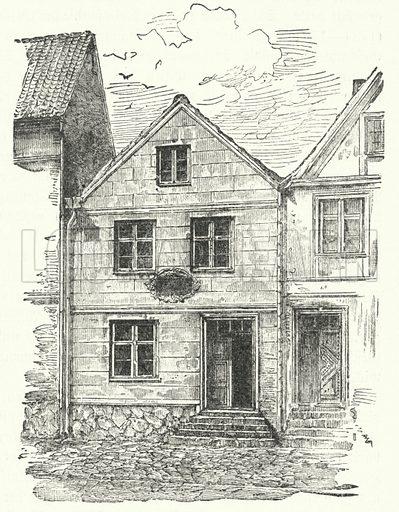 Birthplace of German poet Johann Gottfried Herder (1744-1803), Mohrungen, Prussia. Illustration for Geschichte der Weltlitteratur by Julius Hart (Neumann, c 1894).