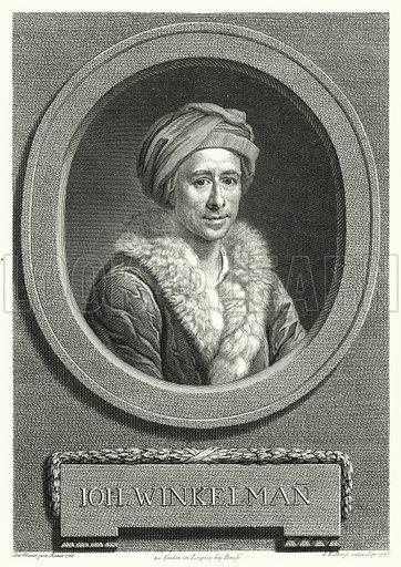 Johann Joachim Winckelmann (1717-1768), German art historian and archaeologist. Illustration for Kulturgeschichtliches Bilderbuch aus drei Jahrhunderten by Georg Hirth (Leipzig and Munchen, 1881-90).