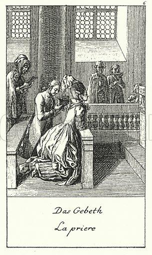 The Prayer. Illustration for Kulturgeschichtliches Bilderbuch aus drei Jahrhunderten by Georg Hirth (Leipzig and Munchen, 1881-90).