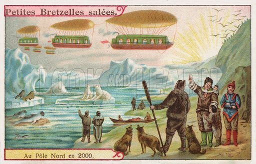North Pole in the Year 2000. Trade card, late 19th century.