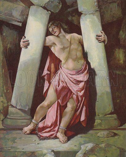 Samson breaking the Pillars