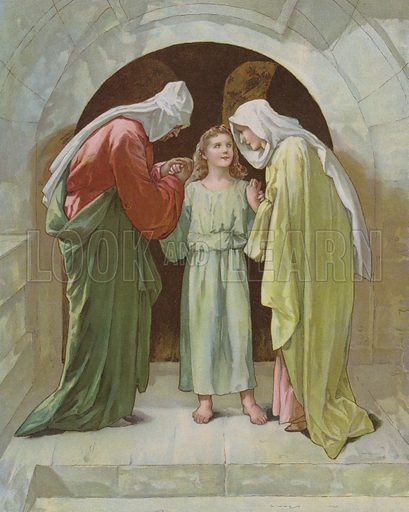 Joseph and Mary found Jesus in the Temple