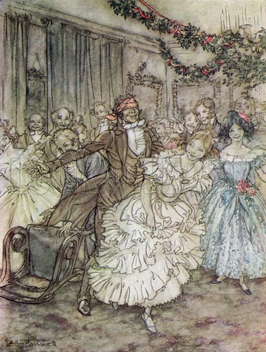 Illustration For A Christmas Carol By Charles Dickens Stock Image Look And Learn
