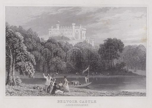 Belvoir Castle, Leicestershire. Illustration for Curiosities of Great Britain by Thomas Dugdale (L Tallis, c 1850).