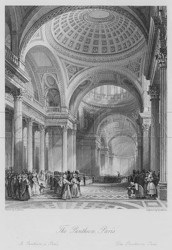 The Pantheon, Paris. Le Pantheon, a Paris. Illustration for France Illustrated (Fisher, c 1845).