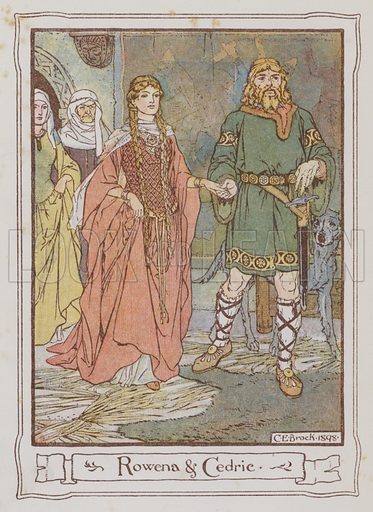 Rowena and Cedric. Illustration for Ivanhoe by Sir Walter Scott (Dent, 1899).