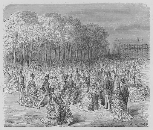 Le Jardin Zoologique. Illustration for Londres by Louis Enault illustrated by Gustave Dore (Hachette, 1876).