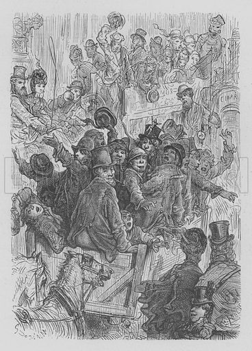 Pele-Mele. Illustration for Londres by Louis Enault illustrated by Gustave Dore (Hachette, 1876).