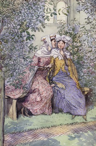 Illustration for The Merry Wives of Windsor by William Shakespeare (William Heinemann, 1910).