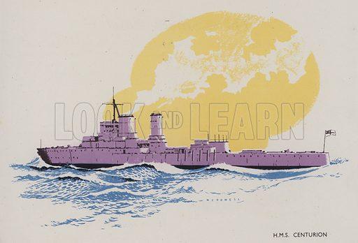 HMS Centurion. Illustration for The Boy