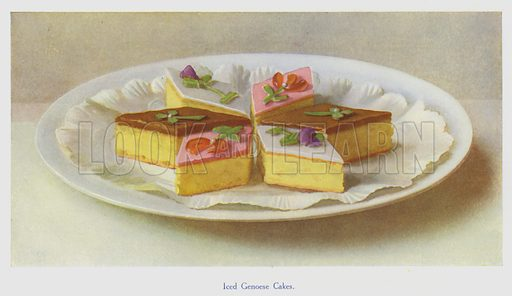 Iced Genoese Cakes