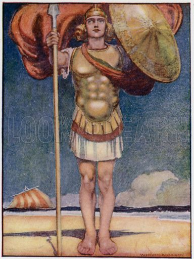 Achilles, fleetest of foot, and bravest of all Greek heroes