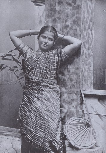 High Caste Tamil Lady - Look and Learn History Picture Library