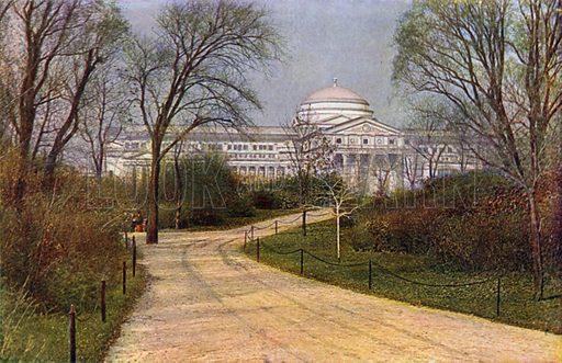 Field Columbian Museum, Jackson Park. Illustration for Souvenir of Chicago in Colours (Hammon, 1910).