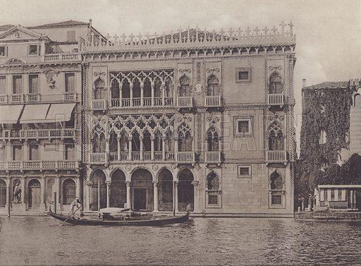 Palazzo Ca' D'Oro. Illustration for Venezia 36 Vedute, c 1900.