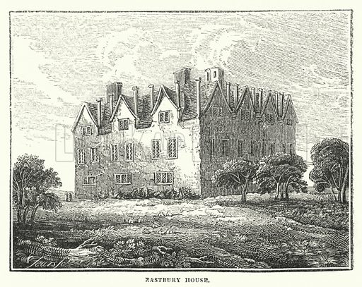 Eastbury House. Illustration for Interesting and Remarkable Places by C Mackenzie (John Reynolds, c 1850).