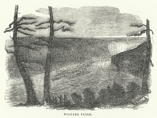 Niagara Falls. Illustration for The Illustrated Universal Gazetteer edited by William Francis Ainsworth (John Maxwell, 1863).