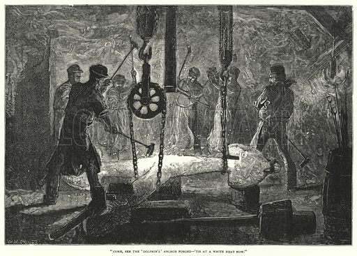 The Forging of the Anchor. Illustration for Illustrated British Ballads Old and New selected by George Barnett Smith (Cassell, 1881).