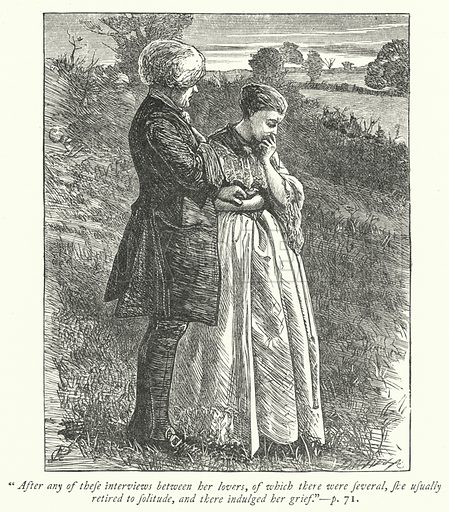 Illustration for The Vicar of Wakefield.  Illustration for Dalziels' Illustrated Goldsmith with pictures drawn by G J Pinwell (Ward Lock, c 1860).