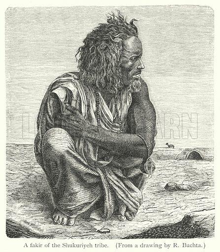 A fakir of the Shukuriyeh tribe