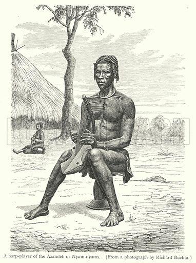A harp-player of the Azandeh or Nyam-nyams