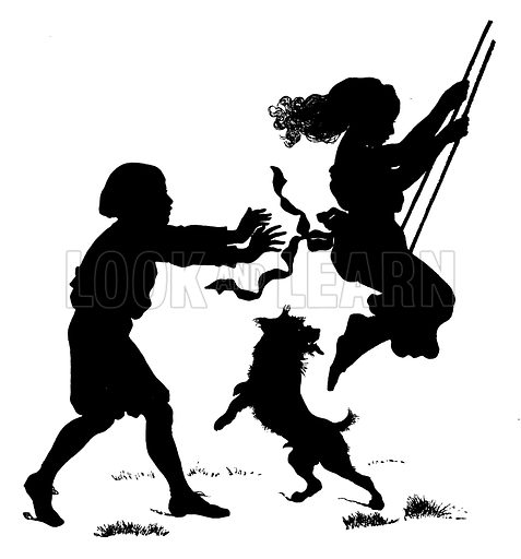 Konewka silhouettes of children