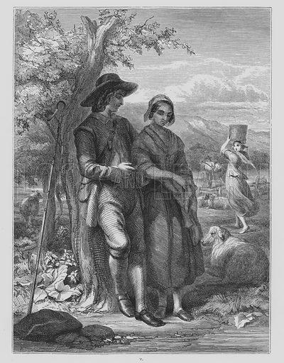 Illustration for L'Allegro and Il Penseroso by John Milton (Art Union of London, 1848).