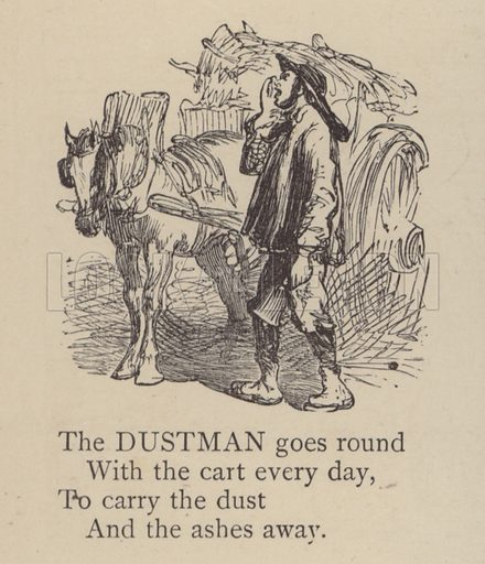 Dustman.  Illustration for Our Picture Book, Dedicated to the Duchess of Teck (S W Partridge, c 1878).