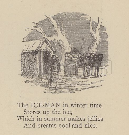 Ice man.  Illustration for Our Picture Book, Dedicated to the Duchess of Teck (S W Partridge, c 1878).