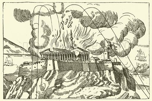 The bombardment of the Parthenon in 1687