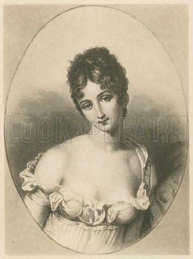Juliette Recamier. Illustration for Beautiful Women by Mrs Steuart Erskine (George Bell, 1905). Gravure printed.